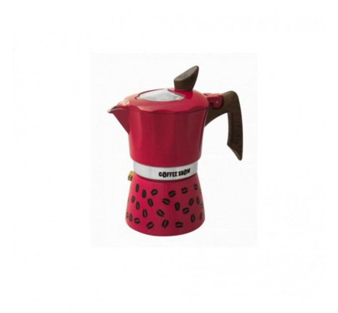 Гейзерная кофеварка на 3 чашки COFFEE SHOW GAT, малиновый (104603) - фото № 1