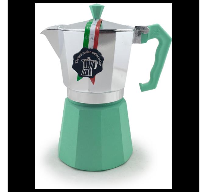 Гейзерная кофеварка на 6 чашек LEDYORO COLOR GAT, мятный (103006) - фото № 1