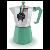 Гейзерная кофеварка на 6 чашек LEDYORO COLOR GAT, мятный (103006)
