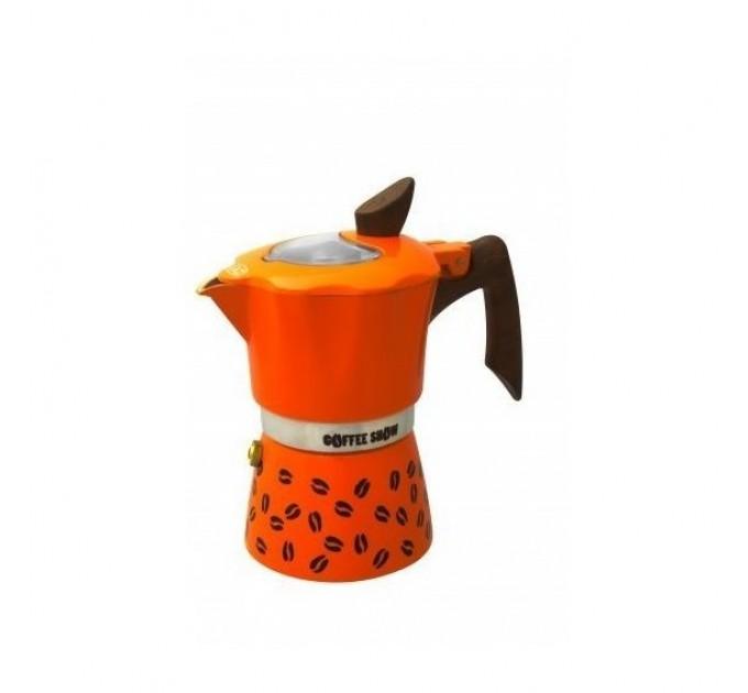 Гейзерная кофеварка на 3 чашки COFFEE SHOW GAT, оранжевый (104603) - фото № 1