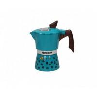 Гейзерная кофеварка на 6 чашек COFFEE SHOW GAT, бирюзовый (104606)