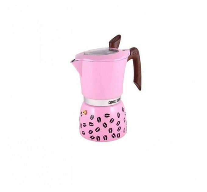 Гейзерная кофеварка на 3 чашки COFFEE SHOW GAT, розовый (104603) - фото № 1