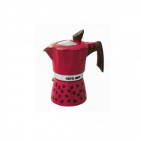 Гейзерная кофеварка на 6 чашек COFFEE SHOW GAT, малиновый (104606)