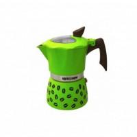 Гейзерная кофеварка на 2 чашки COFFEE SHOW GAT, зеленый (104602)