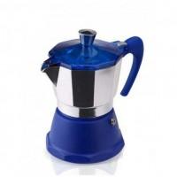 Гейзерная кофеварка на 3 чашки FANTASIA GAT, синий (106003)