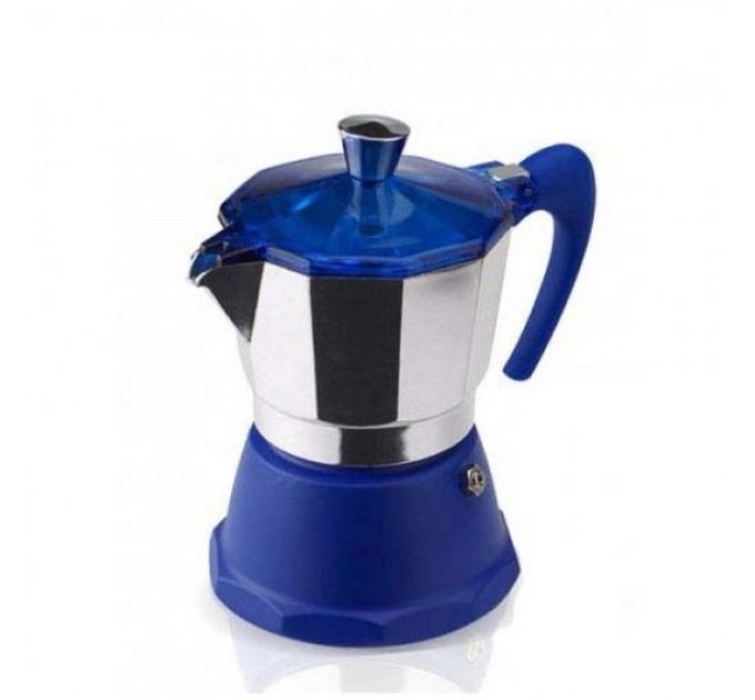 Гейзерная кофеварка на 9 чашек FANTASIA GAT, синий (106009) - фото № 1