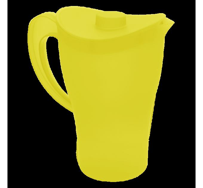 Кувшин с крышкой Алеана, желтый/прозрачный (168033) - фото № 1