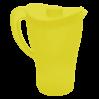 Кувшин с крышкой Алеана, желтый/прозрачный (168033)
