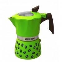 Гейзерная кофеварка на 6 чашек COFFEE SHOW GAT, салатовый (104606)