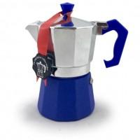 Гейзерная кофеварка на 3 чашки LEDYORO COLOR GAT, синий (103003)