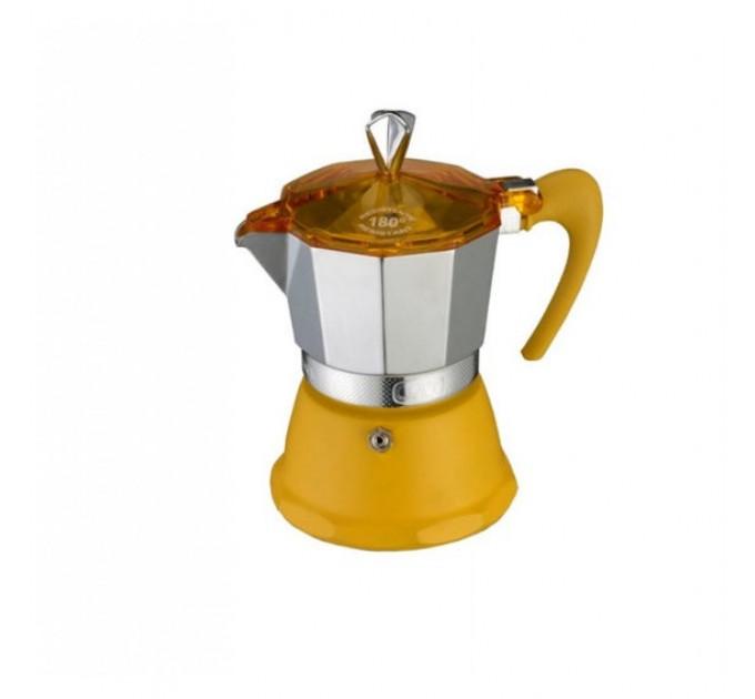 Гейзерная кофеварка на 6 чашек FANTASIA GAT, желтый (106006) - фото № 1