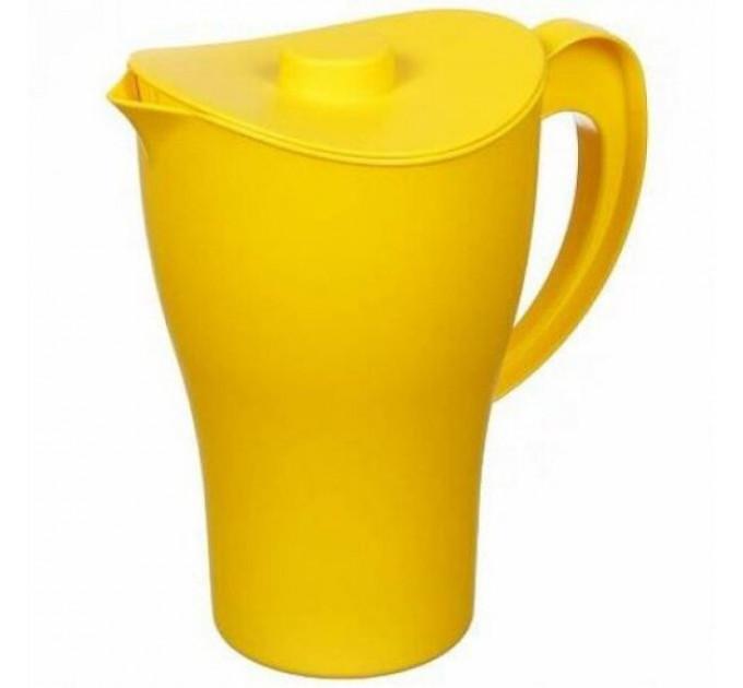 Кувшин с крышкой Алеана 2л, темно-желтый (168033) - фото № 1