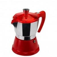 Гейзерная кофеварка на 6 чашек FANTASIA GAT, красный (106006)
