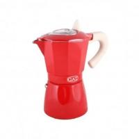 Гейзерная кофеварка на 3 чашки ROSSANA GAT, красный (103103)