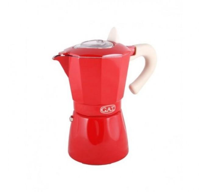 Гейзерная кофеварка на 3 чашки ROSSANA GAT, красный (103103) - фото № 1